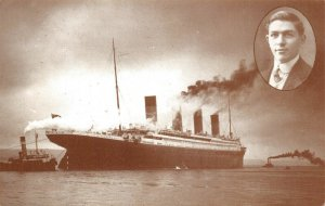 Postcard RMS Titanic and Fred Wright gave squash lessons on board Titanic 80Y
