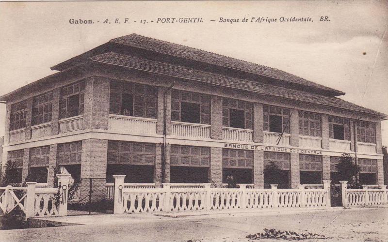 GABON , 00-10s : Port-Gentil , Bangue de l'Afrique Occidentale