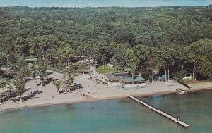 Aerial View of Hunter's Park, Cottages and Camping, Westside of Lake Simco, S...