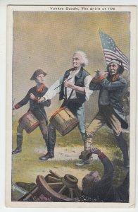 P2067 old postcard patriotic yankee doodle the spirit of 1776 drums flag etc