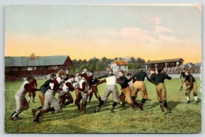 Sports~Football~Running Play~Blockers~Bleachers & Stands~IPCC #185-4~1908 PC