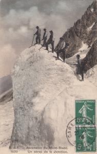 Ascension du Mont-Blanc Un serac de la Jonction vintage climbers 1908 TCV stamps