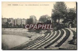 Postcard Old Paris 5th stop the Arenes Roman street Navarre