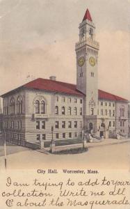 Exterior, City Hall,  Worcester,  Massachusetts,  PU_00-10s