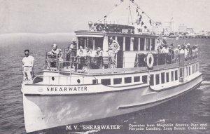 LONG BEACH , California , 1930s ; M.V. SHEARWATER Cruise Tour Ship