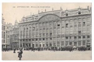 Belgium Brussels Bruxelles Maison des Corporations Postcard