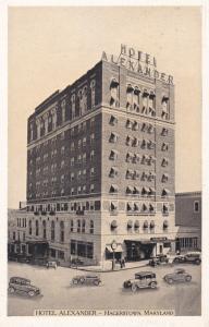HAGERSTOWN, Maryland, 1910-20s; Hotel Alexander