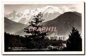 Old Postcard Assy Passy Sancellemoz and Mont Blanc