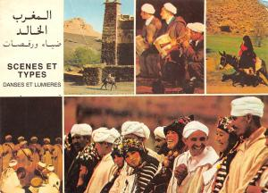 Morocco Scenes et Types danses et Lumieres Donkey