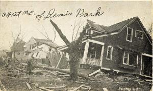 NE - Omaha. Easter Tornado, March 23, 1913. 34th Street northeast of Bemis Pa...