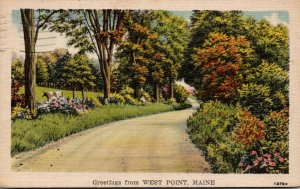 Maine Greetings From West Point 1950