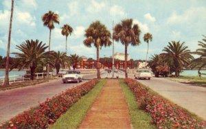EAST END OF MEMORIAL CAUSEWAY APRROACHING CLEARWATER, FL. circa 1960