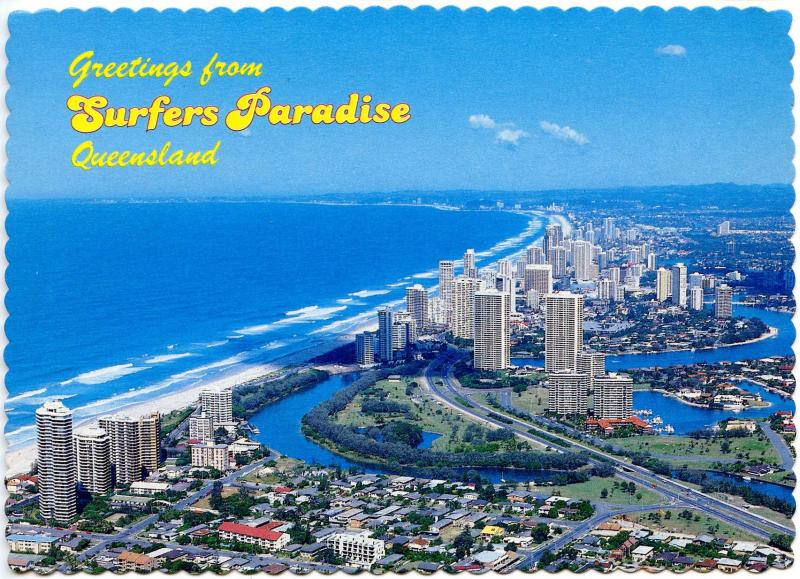 Australia - Queensland, Gold Coast. Aerial View