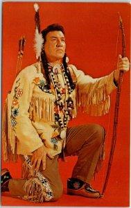 Chicago IL Postcard Don Roth's Blackhawk Restaurant Chief White Eagle c1950s