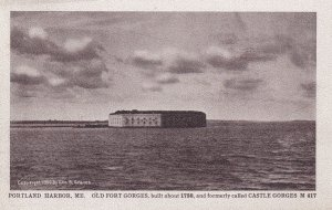 PORTLAND, Maine, PU-1913; Old Fort Gorges