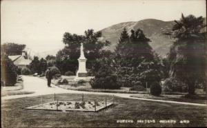 Nelson New Zealand Queen's Gardens c1910 Real Photo Postcard
