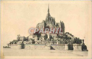 Postcard Abbey of Mont Saint-Michel General view