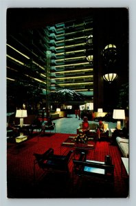 Atlanta GA, Regency Hyatt House, Most Unusual, Chrome Georgia c1969 Postcard