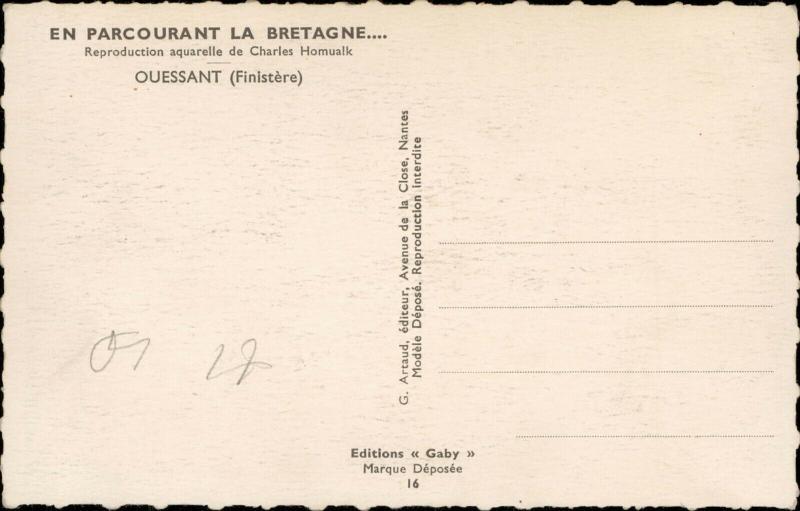 Ouessant Finistere Parcourant la Bretagne Charles Homualk