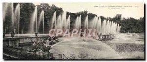 Old Postcard Large Format Parc De Versailles Le Bassin De Neptune Large water...