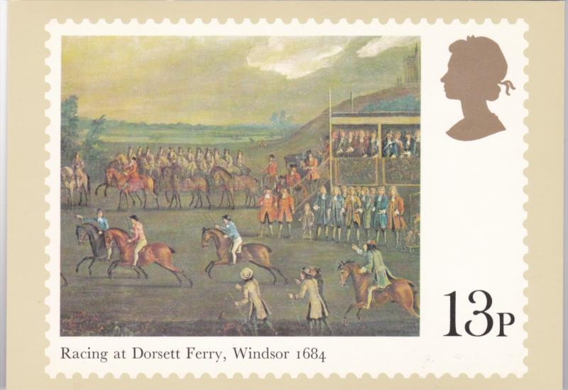 Stamps Of Great Britain Horse Racing Racing At Dorsett Ferry Windsor 1684 Iss...
