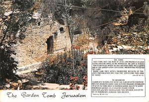 Israel Old Vintage Antique Post Card Garden Tomb Jerusalem Unused