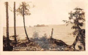 Greenville Maine Moosehead Lake Beaver Creek Real Photo Antique Postcard J73083