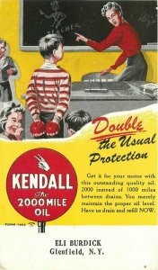 Glenfield New York Kendall Advertising Teacher 1930s Postcard undivided 20-2189