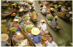 Thailand - Ratchaburi Province, Damnoen Saduak. Floating Market