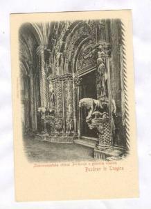 Pozdrav iz Trogira, Croatia, 1890s-1905: Zborno-opatska crkva: Pridvorje s gl...