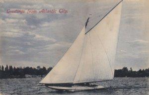 ATLANTIC CITY , New Jersey , 1908; Greetings, Sailboat