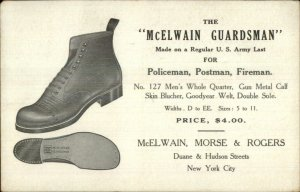 Uniform Police Fire Postal Worker Shoes McElwain Morse Rogers New York City