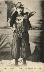 PC CPA JUDAICA, TYPES & SCENES, JEUNE DANSEUSE JUIVE, Vintage Postcard (b25249)