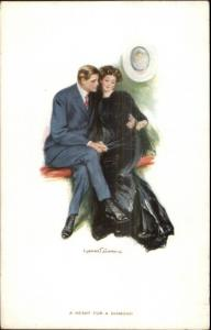 Clarence Underwood - Beautiful Woman & Man A HEART FOR A DIAMOND c1910