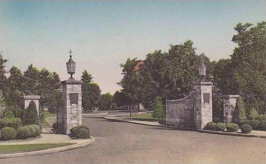 Massachusetts West Springfield Monastery Entrance Passionist Fathers Albertype
