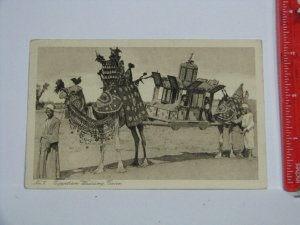 Postcard Egypt 1931 Cooks Travel Postmark Camel Wedding Procession Cairo