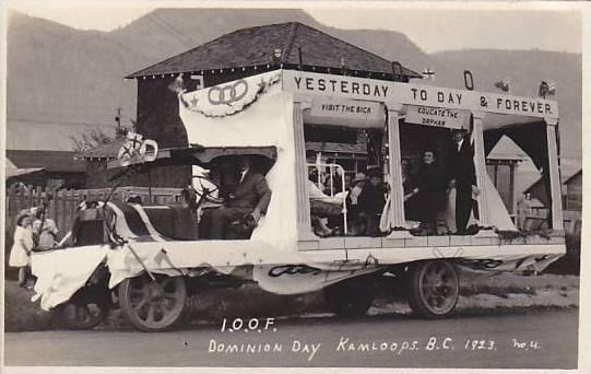 RP;  I.O.O.F. Dominion Day, Kamloops, British Columbia, 1923, Canada, 10-20s