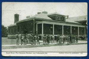 Fort Benjamin Harrison Indianapolis Indiana News Guard House old postcard