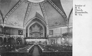 F23 Moundsville West Virginia Postcard c1910 Interior M.E. Church 19
