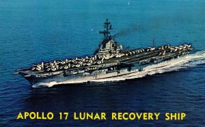 USS Ticonderoga (CVS-14). Apollo 17 Lunar Recovery Ship
