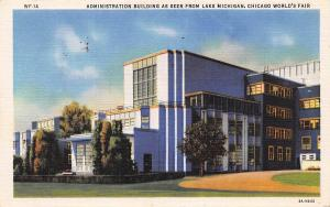 Chicago World's Fair, Administration Building as seen from Lake Michigan 1933