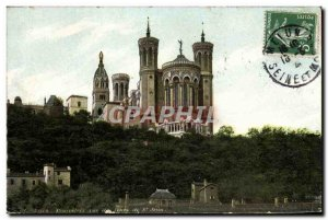 Old Postcard Lyon Fourvières view of the towers of St. John