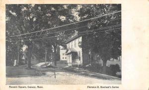 Conway Massachusetts Masonic Square Street Scene Vintage Postcard JE228320