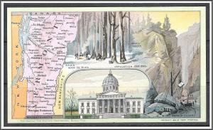 Vermont Youth's Companion Map c1891 - [VT-032]
