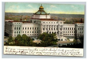 Vintage 1900's Postcard Panoramic View of the Library of Congress Washington DC
