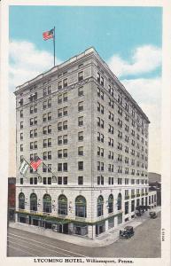 WILLIAMSPORT, Pennsylvania, 1900-1910´s; Lycoming Hotel, Classic Cars