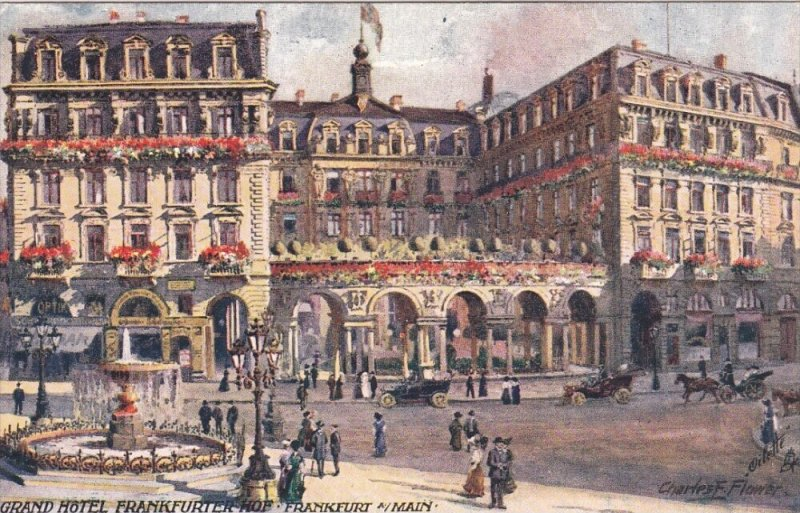 FRANKFURT A. MAIN, Hesse, Germany, 1900-1910's; Grand Hotel Frankurter Hof