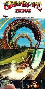 Great Escape Fun Park Lake George c1980s Complete Set of 6 Postcards  I14