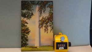 STD Vintage Washington Monument Cherry Blossoms District of Columbia Unposted
