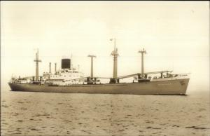 1950s Steamship - SS Bengalen Real Photo Postcard